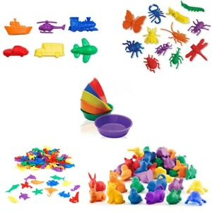36 Counters & 6 Colour Bowls Teacher Resource for Sorting & Counting Activities