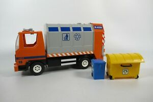 Playmobil 4418 Rubbish Recycling garbage truck lorry with bins