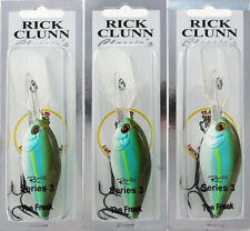 (Lot Of 3) Rick Clunn The Freak Series 3 3/4Oz Rcd2S3-51-1 Turquoise Lime G2116