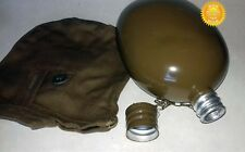 USSR Russian Army Original Flask Soviet Water Bottle Military Canteen + Case
