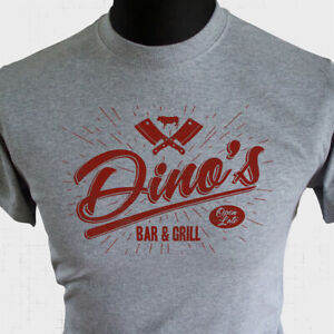 Dinos Bar and Grill T Shirt Thin Lizzy Inspired Boys Are Back In Town Cool Grey