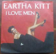 """7"""" Single, Eartha Kitt, I Love Men,Metronome 1984, Near Mint"""