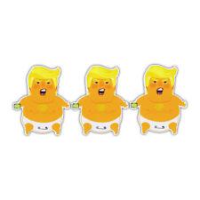 Bumper Stickers - 3 Baby Donald Trump Diaper Stickers - Funny Anti Donald Trump