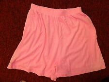 """BLAIR """"Soft & Comfy Bright Pink Terry Shorts"""" Size Small"""