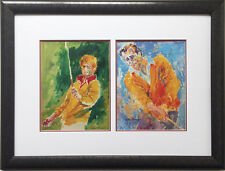 "LeRoy Neiman ""The Original Sweater Boys"" Jack Nicklaus Arnold Palmer FRAMED Art"