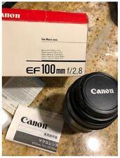 Canon EF 100mm f/2.8 MACRO Non USM AF