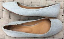 A.P.C. Rue Madame Paris ballet flat Shoe Sz 40 10 chambray fabric blue white