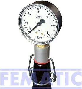 Flaschendruckprüfer, Flaschenmanometer für Bügelflaschen, Hobbybrauer