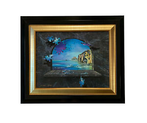 "Ora Tamir Painting Hand Embellished Giclee Canvas ""Illusions"" 3/90 Seascape"
