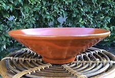 "Early Catalina Island Conical Orange Bowl 12"" WOW"