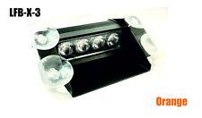 """LED Frontblitzer """"S"""" 12W in Orange """"Dashlight"""", Strassenräumer, Pace Car Blitzer"""