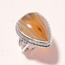 """Fashion Jewelry Ring S-7.75"""" Vr-702 Montana Agate Vintage Style Gemstone"""