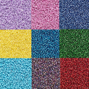 20 Grams ( 2000 beads ) Tiny 11/0 Round Glass Seed Beads Loose # 11 Opaque Color