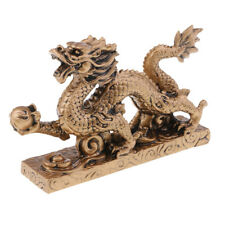 Fengshui chino Bronce longevidad Dragon Turtle Wealth Lucky Craft Decor