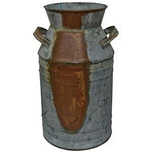 Milk Can Decorative Jug Primitive Rustic Decor Vase Home Cabin Lodge 11 Inch New