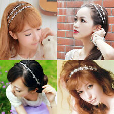2016 Lady Girls Metal Rhinestone Elastic Head Chain Jewelry Headband Hair Band
