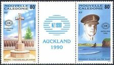 New Caledonia 1990 Military/Memorial/WWII/Soldier/StampEx 2v set gutter (n42136)