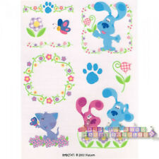 BLUE'S CLUES Blue and Magenta TEMPORARY TATTOOS ~ Birthday Party Supplies Favors