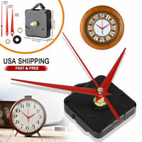 DIY Wall Quartz Clock Movement Mechanism Replacement Tool Parts Set Red Hands