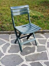 sedia poltrona in resina pieghevole verde cm 49x42x78h per esterno interno