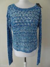 Hollister jumper size L (14) loose fit blue/multi, long sleeve, brand new