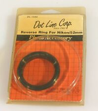 NIKON 52MM REVERSE RING, NEW IN PACKAGE