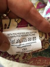 KINGSIZE QUILTED THROW REVERSABLE PATCHWORK/INDIAN STYLE FLORAL . EX COND