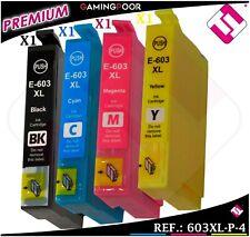 PACK 4 TINTAS 603 XL NEGRO CIAN MAGENTA AMARILLO CARTUCHO NOOEM COMPATIBLE EPSON