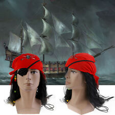 Pirates Cosplay Brown Wig Hat Prop For Halloween Fancy Dress Captain   ZB