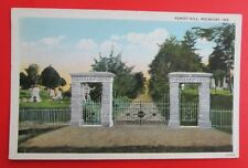 Sunset Hill Cemetery Rockport IN Unposted Pre Linen Postcard