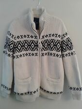 NWOT AMERICAN EAGLE Men's Faux Sherpa Zip-Up Sweater Sz MEDIUM TALL Beige