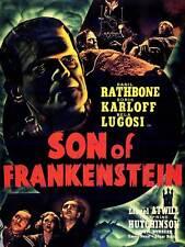 Pellicola sequel FIGLIO DI FRANKENSTEIN KARLOFF LUGOSI HORROR POSTER ARTISTICO USA Stampa cc6443