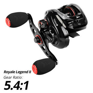 KastKing Royale Legend II 5.4:1 6 BB Smooth Baitcasting Fishing Reel - Right