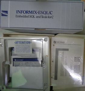 INFORMIX-ESQL/C, 1989,  Version 2.10.06C,  for IBM PC AT, XT --  Unused