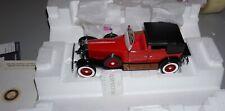 1929 Rolls Royce Phantom I Red Cabriolet De Ville Franklin Mint 1/24 Diecast New