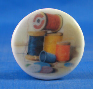 Birchcroft China Button -- Cotton Reels - One Inch Size ( 25 mm )
