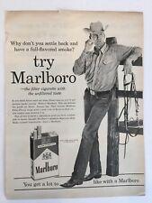 1961 Vintage Try Marlboro The Filter Cigarette Magazine Print Ad