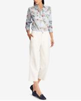 Lauren Ralph Lauren Capri Pants Ivory Cropped Women Sz 10 NEW NWT 170