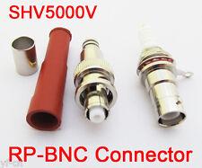 1set SHV 5000V RP BNC Male + Female High Voltage Power Audio Connector for RG6