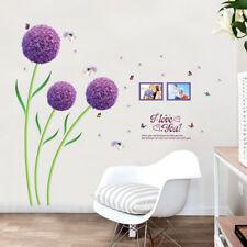 selbstklebende deko aufkleber mit blumen garten thema g nstig kaufen ebay. Black Bedroom Furniture Sets. Home Design Ideas
