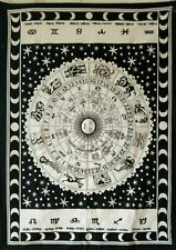Tapestry Geometric Astrology Wall Hanging Black Small Poster Wall Hanging Throw