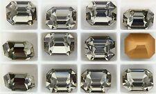 Swarovski 4600 Black Diamond 12x10mm Vintage Crystal Stones Foiled - 1 Piece