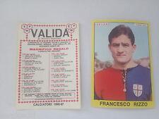 FIGURINA CALCIATORI PANINI 1966 / 67 - CAGLIARI -FRANCESCO RIZZO -NUOVA-VALIDA