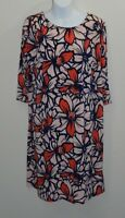 Taylor A Pea In The Pod Maternity Dress Size Large Bold Floral Print Peach Navy