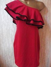 BNWT Miss Selfridge Red Tarzan Top  Body Con Mini Dress Size10uk/38Eur RRP £36