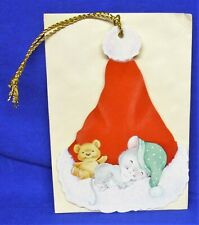 Hallmark Christmas Keepers Hanging Card Gift Tag Night Before Christmas Mouse