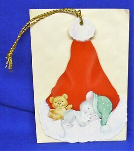 Hallmark Christmas Keepers Hanging Card Gift Tag Night Before Christmas Mouse