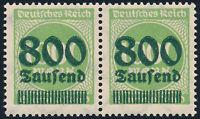 DR 1923, MiNr. 308 a II, tadellos postfrisch, gepr. Infla, Mi. 90,-