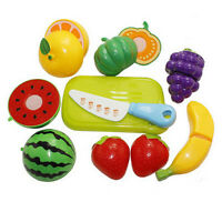 Fruit Role Play Fruit Vegetable Food Cutting Set Reusable Pretend Kitchen