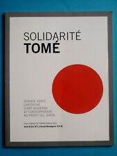 Solidarité TOMÉ JAPON catalogue vente ART MODERNE & CONTEMPORAIN Satoru Sato art